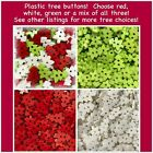 20 CHRISTMAS TREE BUTTONS Holiday Scrapbook Crafts Assorted Plastic Christmas