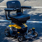 GO-CHAIR Pride Mobility Travel Electric Powerchair Used + 18AH New YELLOW color