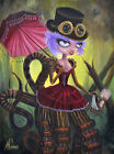 Molly's Messy Moppet by J.K. McGreens Spider Fairytale Girl Canvas Art Print