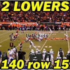 2 LOWERS: Indianapolis Colts @ Cincinnati Bengals NFL 10/29 140row15
