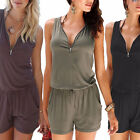 Summer Women Loose Casual Lace Up Playsuit Party Jumpsuit Romper Trousers Shorts