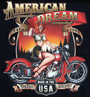 NEW American Dream HD 40's 50's Glamour Pin up & Classic HD Motorcycle T Shirt