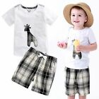 "Vaenait Baby Kids Girls Boys Clothes Short Outfit set ""Giffy White"" 12M-7T"