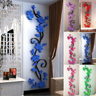 Removable Vinyl 3D Rose Flower Wall Stickers Decal Art Home Room Decor DIY New