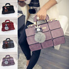 Women's PU Leather Handbag Purse Messenger Shoulder Crossbody Bag Tote Satchel @
