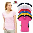 Fitted V Neck T-Shirt Cotton Short Sleeve Top Womens Sexy Vest Ladies