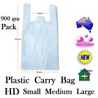 Checkout Plastic Bag HD White Singlet Shopping Carry Bag Small Medium Large 900g
