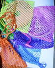 """1or 6  Little Mesh Net Drawstring Bags Holds CDs 4x5.5"""" Practical Party LO"""