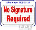 NO SIGNATURE REQUIRED Red Packaging Track Labels Stickers On Sheets - PKG-23-24