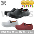STICO NEC-03 Men Chef Shoes Clog Kitchen Non-Slip Safety Shoes Oil&Water Rubber