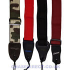 """Nylon Guitar Strap Adjustable Length 2"""" Wide For Electric Or Acoustic Guitar"""