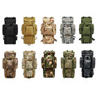 80L Outdoor Military Rucksacks Tactical Bag Camping Hiking Trekking Backpack