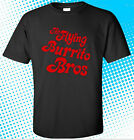 The Flying Burrito Brothers Logo Country Rock Men's Black T-Shirt Size S to 3XL image