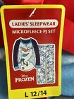Disney Frozen Olaf Pajamas 2 Piece Fleece Pants Shirt Set Soft Blue NEW