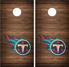 Tennessee Titans Vintage Wood Distressed Cornhole Board Decal Wrap Wraps (brown) on eBay