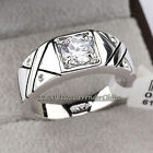 A1-R054 Fashion Rhinestone  Solitaire Men's Band Ring 18KGP Crystal