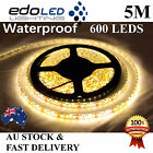 Waterproof 12V Warm White 3528 SMD 600 LED Strips 5M Led Strip Lights Car Boat