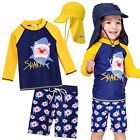 "Vaenait baby Toddler UPF+50 Kids Boy Rashguard  Swimsuit Set ""Yellow Shark"" 2-7T"