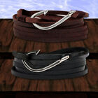 VIKING HOOK Anker Leder Wickelarmband Surfer Herren / Damen Schmuck Anchor Trend