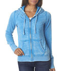 J America Vintage Zen Full-Zip Hooded Fleece Hoodie Ladies' J8913