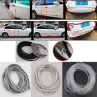 TPO Rubber Car Door Strips Edge Guard Moulding Cover Trim Protector Kit 5m x4mm