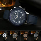 Men's Fashion Faux Leather Band Analog Quartz Round Case Wrist Watch Dreamed