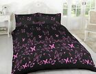 Pink Butterfly Modern Printed Duvet Sets With Pillows Case Single Double King