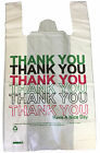 "Strong Plastic Carrier Bags11"" x 17"" x 19"" 22MU Thank You Have A Nice Day Print"