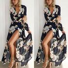 Fashion Women Ladies Long Sleeve Boho Evening Party Floral Long Maxi Dress US