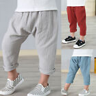 New Children Kids Casual Boy's Cropped Pants Harem Pants Trousers Age 1-3 Years