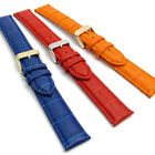 Extra Long XL Leather Watch Band 18mm-24mm Colored Padded Croc Grain C013
