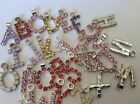 Alphabet Charm Pendant Bargain Mixed bag of 26 different letters 17mm CRAFT