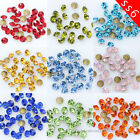 10/100gross ss6 2mm pointed back czech crystal glass rhinestones Nail Art jewels