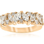 1 1/2ct Fancy Marquise Diamond Womens Wedding Anniversary 14k Yellow Gold