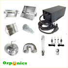 HYDROPONICS HPS GROW LIGHT KIT AIR COOLED HOOD MAGNETIC BALLAST THERMAL CONTROL