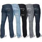 New KRUZE Mens Regular Fit Straight Leg Blue Denim Jeans BIG SIZES 28 - 48