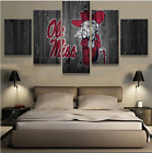 5 Pieces Ole Miss Rabels Painting Printed Canvas Wall Art Picture Home Décor