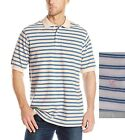 IZOD Mens Big Tall Oxford Stripe Polo Cotton short sleeves fairy size XLT NEW