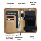 Phone Charging Passport Holder/Wallet - 10 Colors - RFID - iPhone, Galaxy & more