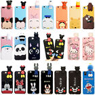 3D Lovely Cartoon Animals Cute Kawaii Dolls Soft Silicone Case Cover For iPhone