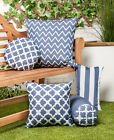 Charcoal Grey Arabesque Collection Outdoor Cushions Waterproof Garden Filled Pad
