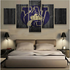 5 Pieces Washington Huskies Painting Printed Canvas Wall Art Picture Home Décor