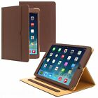 New Soft Leather Wallet Smart Case Cover Folio Stand for APPLE iPad - Brown