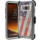 For Samsung Galaxy S8 / S8 Plus Defender Rugged Case (Clip Fits Otterbox) USA