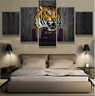5 Panels LSU Tigers Painting Printed On Canvas Wall Art Picture Home Décor