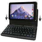 "2 in 1 Tablet Laptop 7"" Screen Quad-Core 16GB Intel Processor Keyboard USB Black"