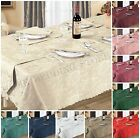 Luxury Woven Jacquard Tablecloth Linen Napkins Placemat Runner All Size & Colors