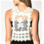 63 Cute Cream ML Crochet Knit Boho Style Popular Fashion Trend Casual Shrug Vest
