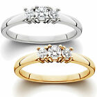 1/3Ct 3 Stone Diamond Ring In White Or Yellow Gold