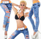 Hipster Skinny Jeans Low Cut Lace Blue stretch Jeans Belt Included 6-14
